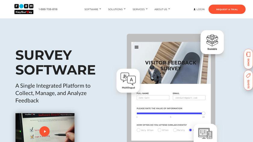 KeySurvey Landing Page