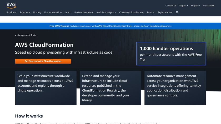 AWS CloudFormation Landing Page