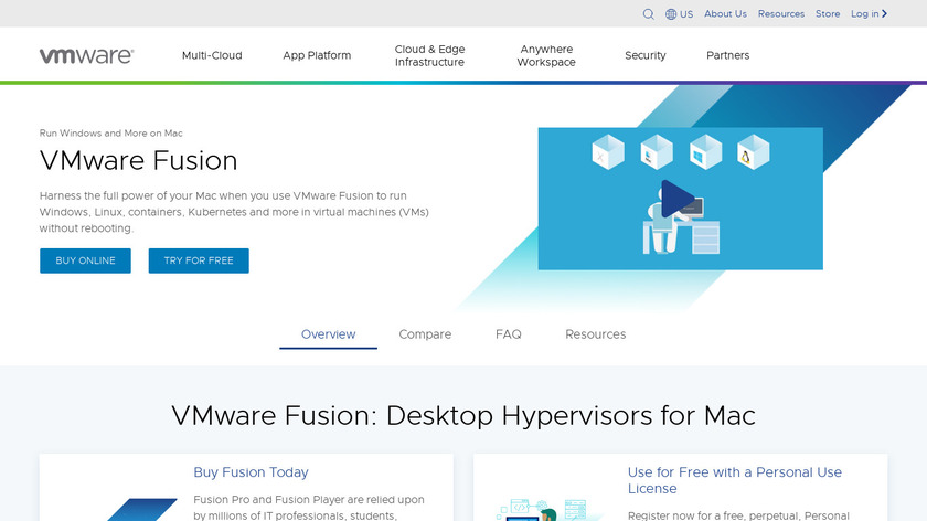 VMware Fusion Landing Page