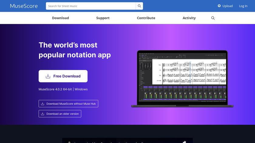 MuseScore Landing Page