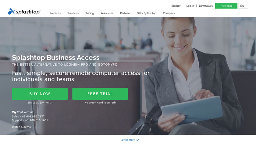 Splashtop Business Access Landing Page