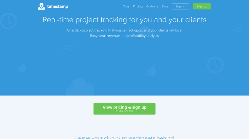 Timestamp Landing Page