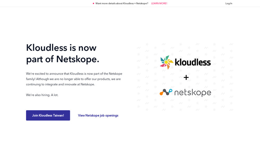 Kloudless Landing Page