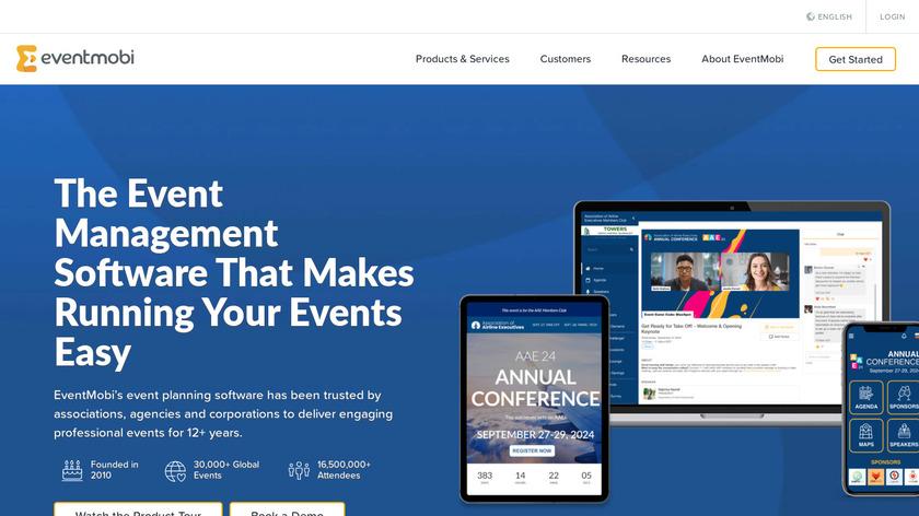 EventMobi Landing Page