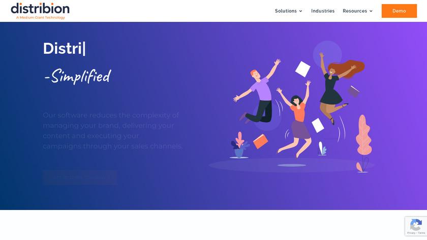 Distribion Landing Page
