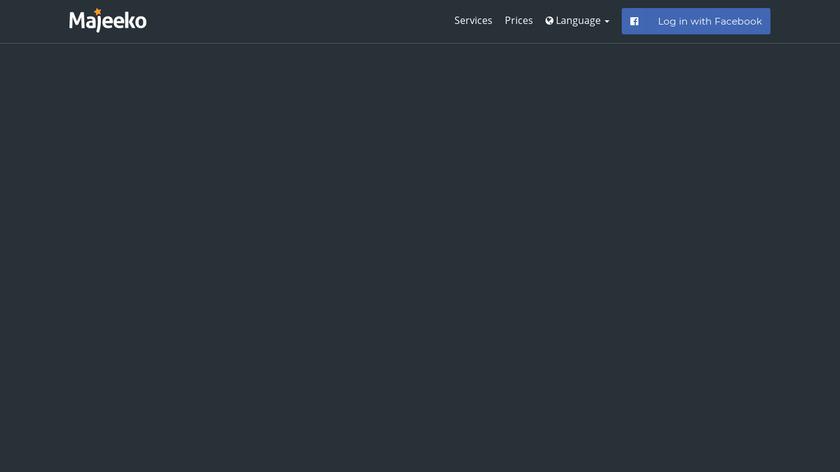 Majeeko Landing Page