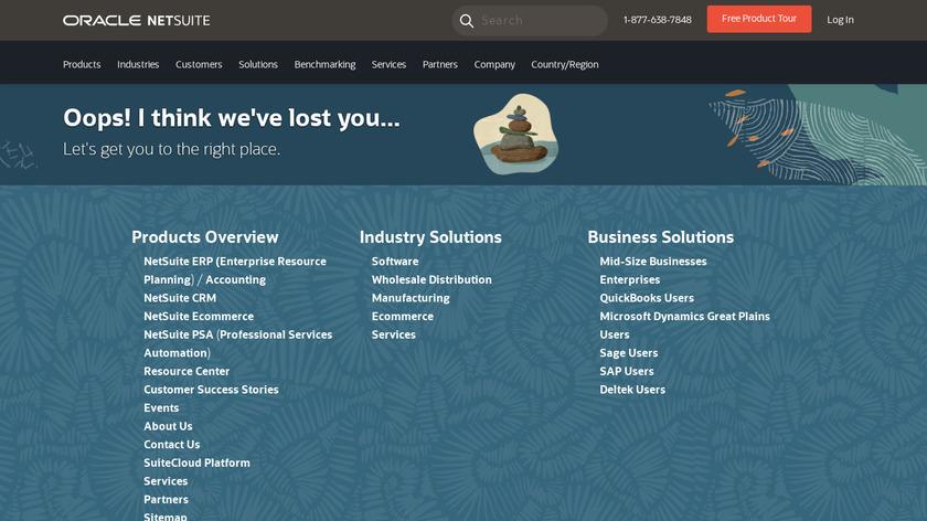 Netsuite SuiteCommerce Landing Page