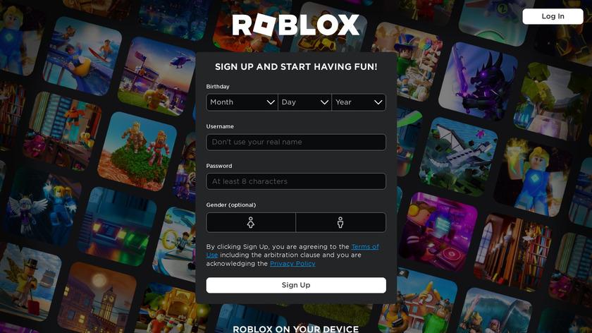 Roblox Landing Page