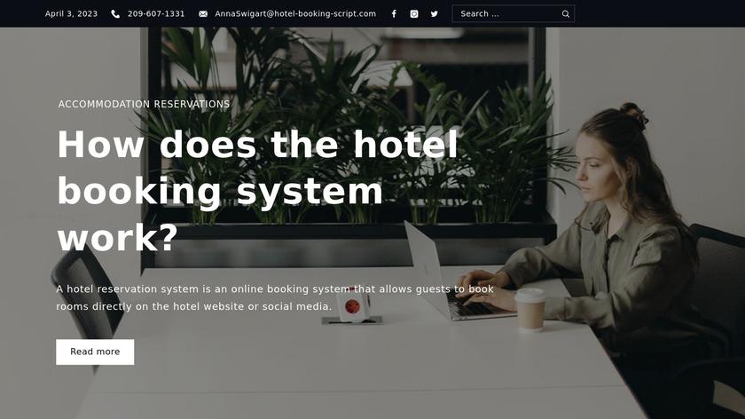 uHotelBooking Landing Page