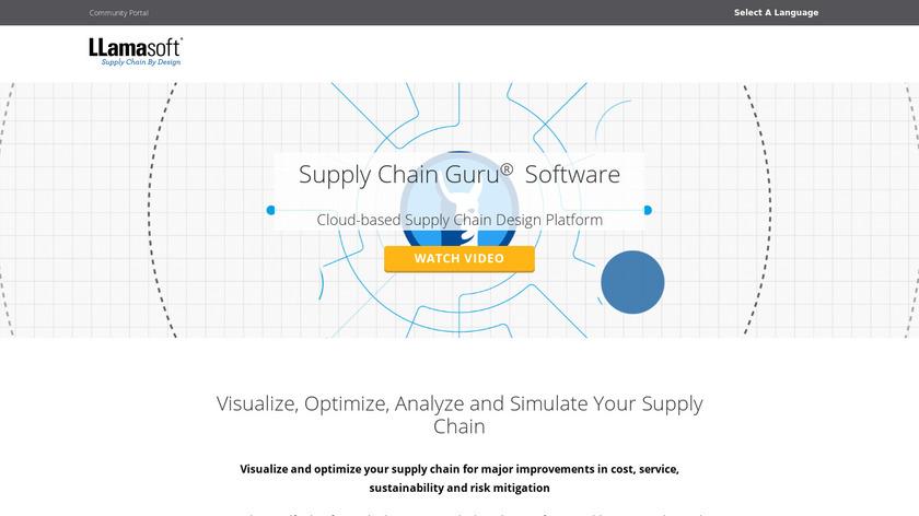 LLamasoft Supply Chain Guru Landing Page