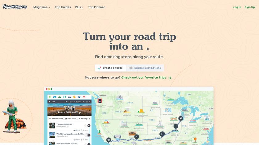 Roadtrippers Landing Page