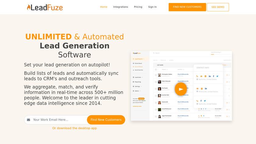 LeadFuze Landing Page