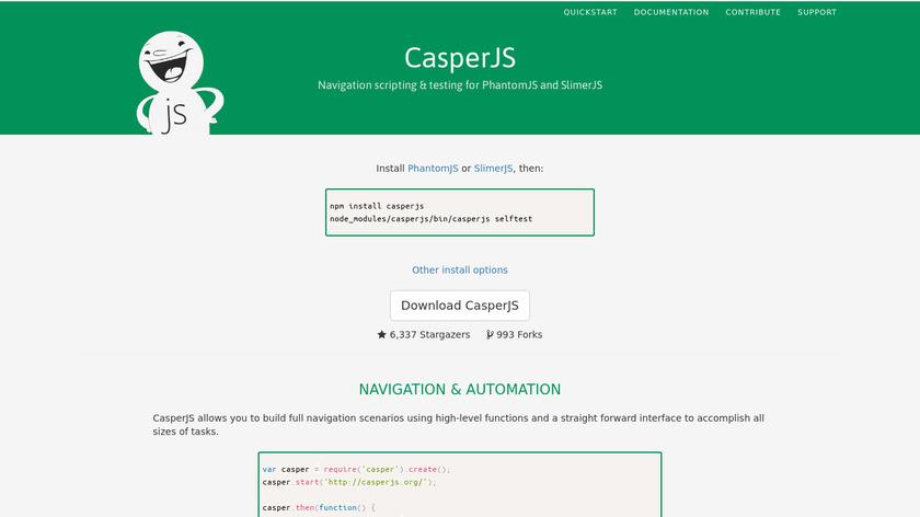 CasperJS Landing Page