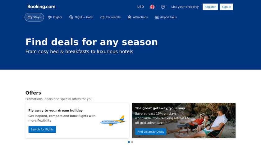 Booking.com Landing Page