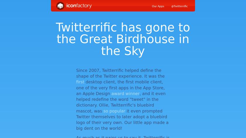 Twitterrific Landing Page