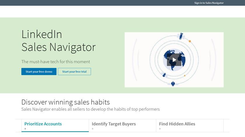 LinkedIn Sales Navigator Landing Page