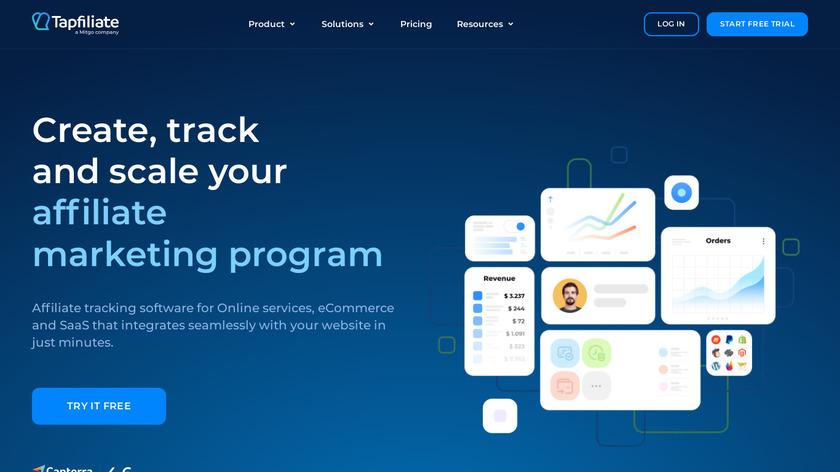 Tapfiliate Landing Page
