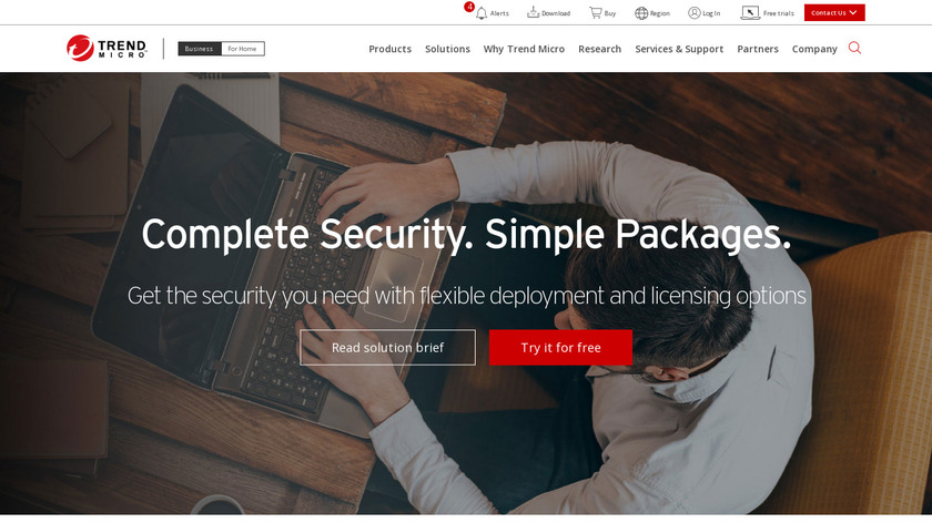Trend Micro Endpoint Security Landing Page
