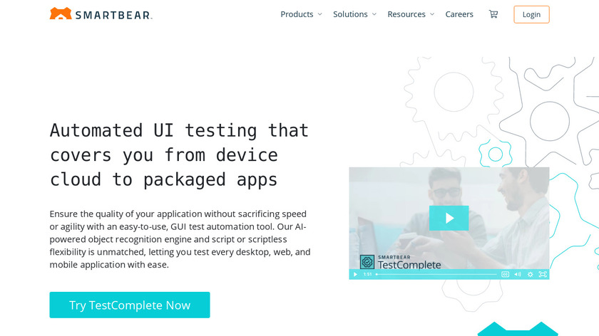 TestComplete Landing Page