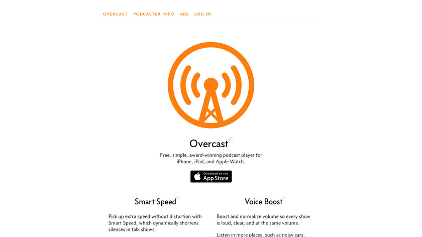 Overcast Landing Page