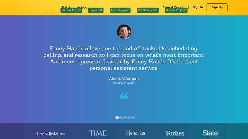 Fancy Hands Landing Page