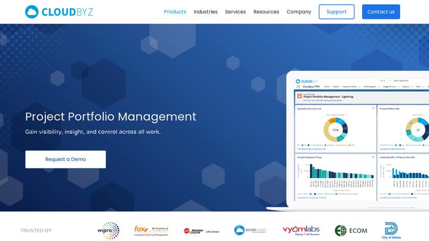 Cloudbyz PPM Landing Page