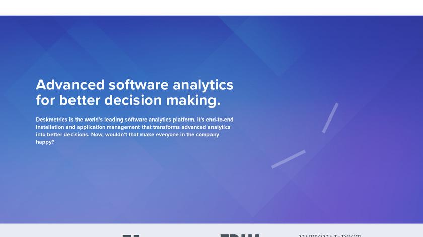 Deskmetrics Landing Page