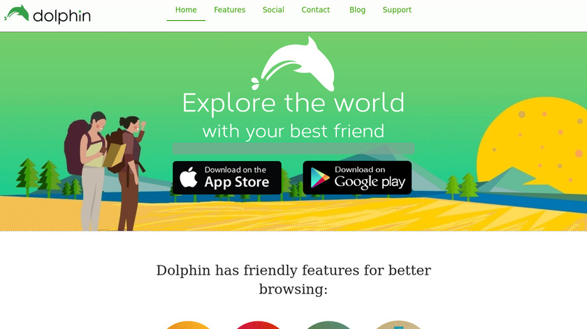 Dolphin Browser Landing Page