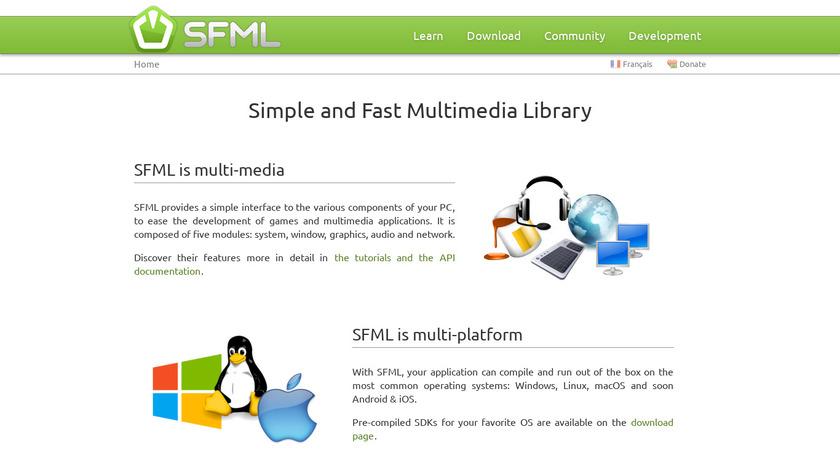 SFML Landing Page