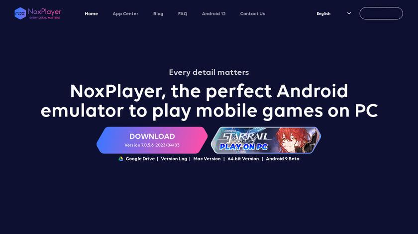 Nox App Player Landing Page