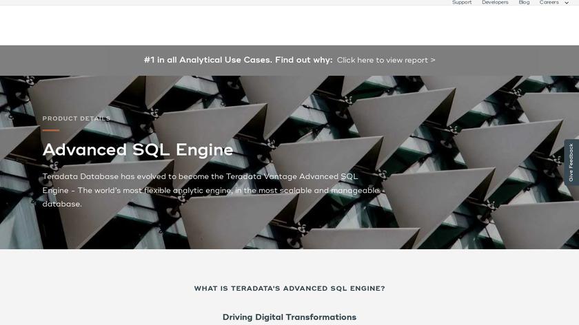 Teradata Database Landing Page
