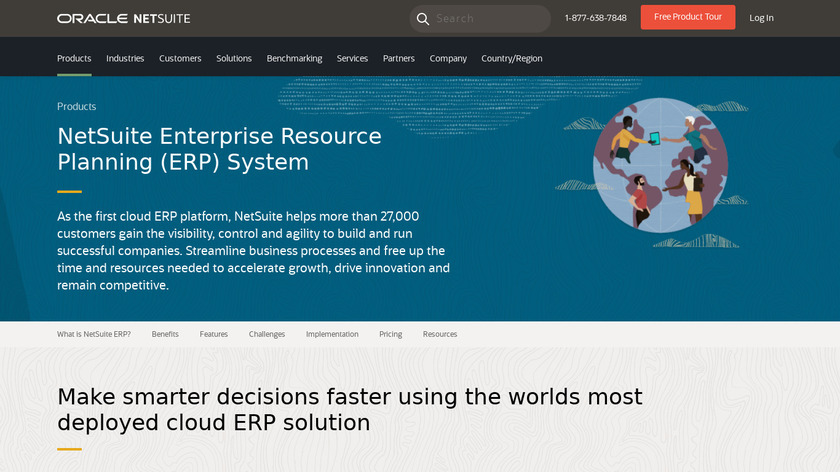 Netsuite ERP Landing Page