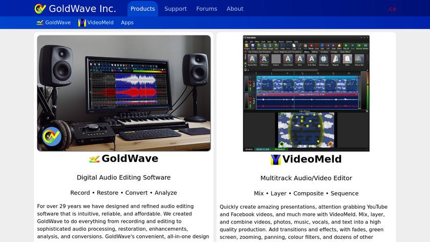 GoldWave Landing Page