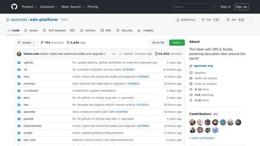 edx-platform Landing Page