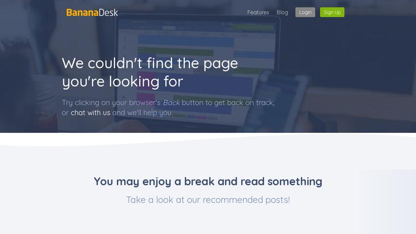 BananaDesk Landing Page