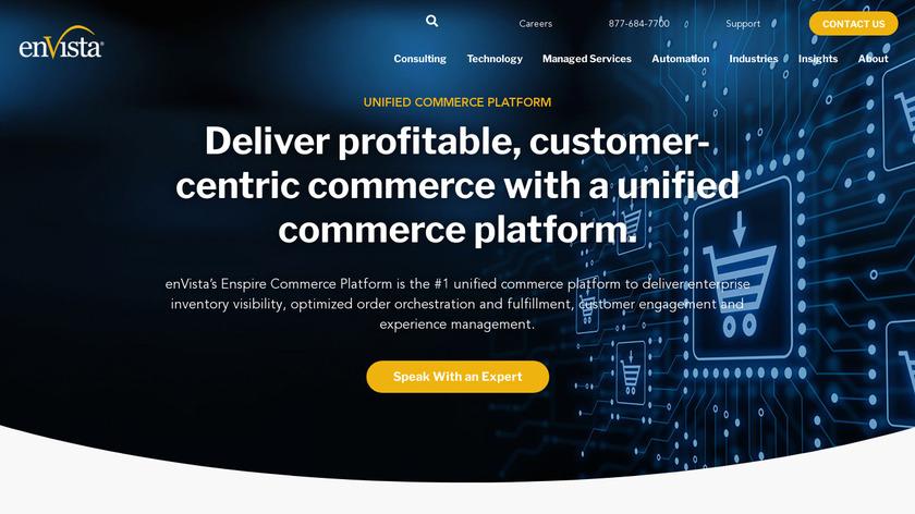 Enspire Commerce Landing Page