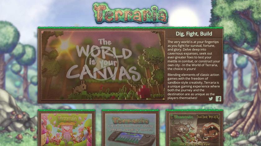 Terraria Landing Page