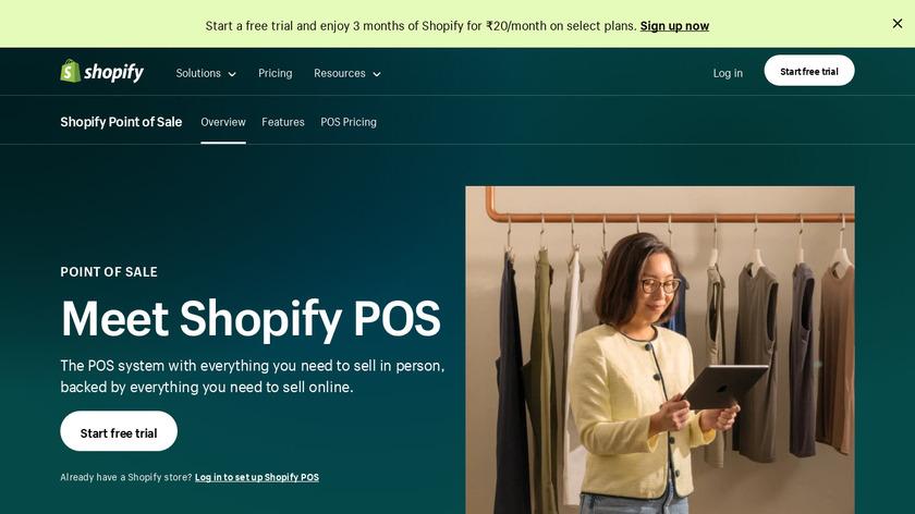 Shopify POS Landing Page