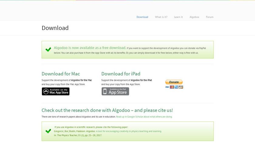 Algodoo Landing Page