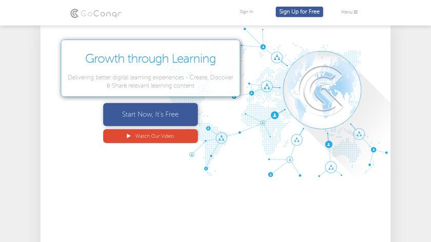 GoConqr Landing Page