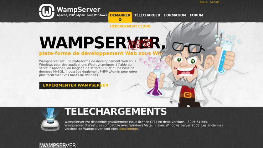 WampServer Landing Page