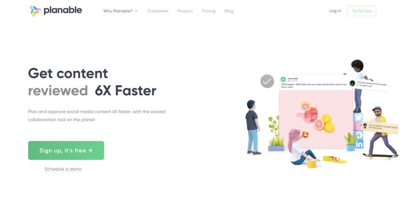 Planable Landing Page