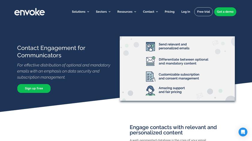 Envoke Landing Page