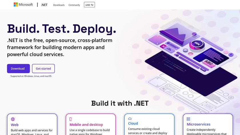 .NET Landing Page