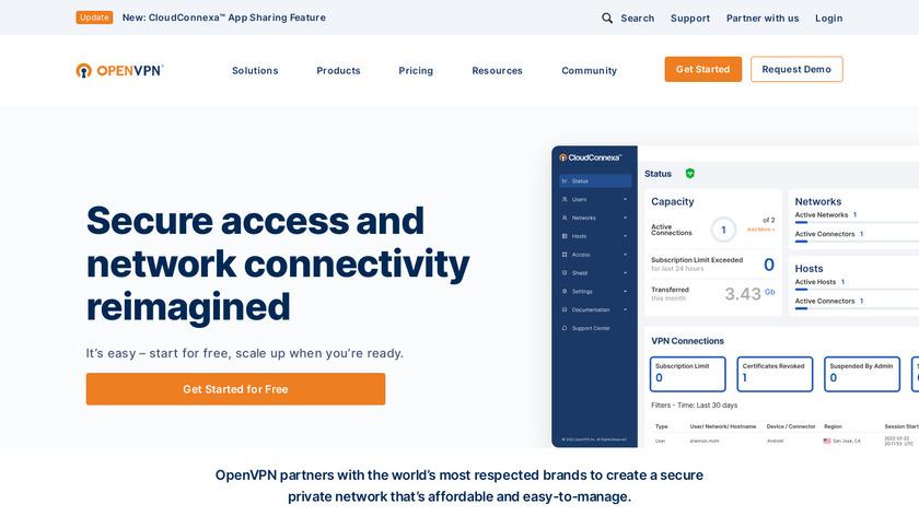 OpenVPN Landing Page