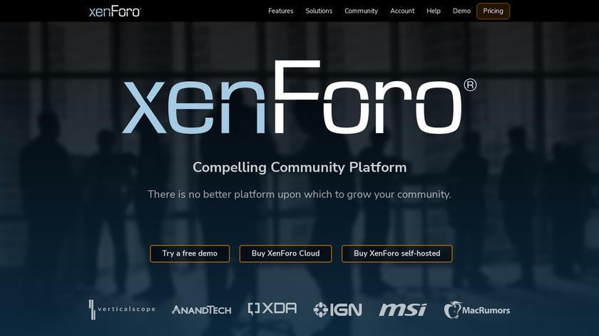 XenForo Landing Page
