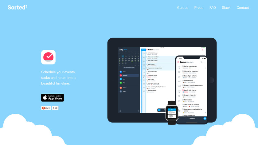 Sorted Landing Page