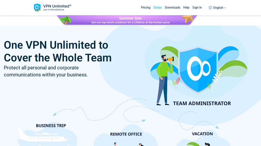 Business VPN by KeepSolid Landing Page