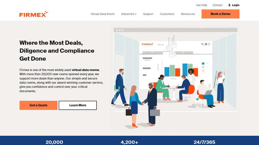 Firmex Virtual Data Room Landing Page