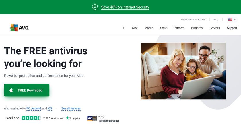 AVG AntiVirus Landing Page